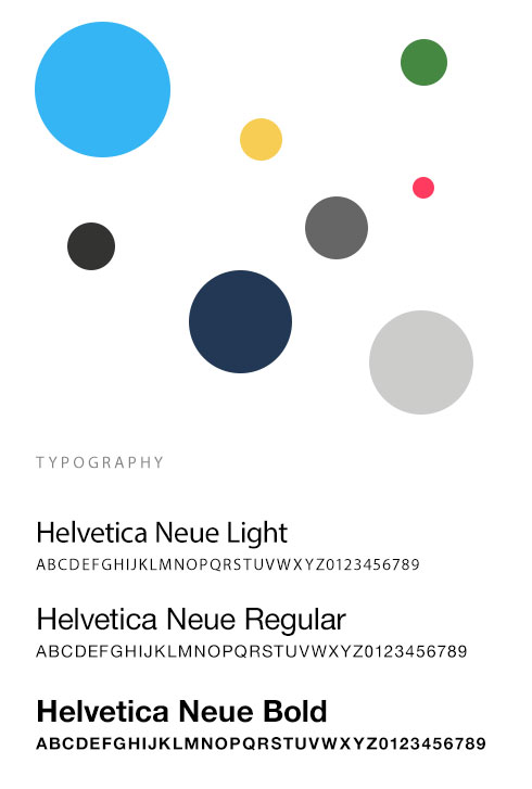 Mobile web color palettes and fonts